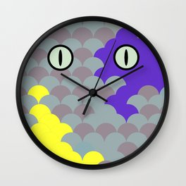 Chesire Scales - Cat Eye - Wonderland Wall Clock