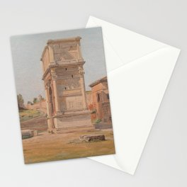 The Arch of Titus in Rome 1839 Stationery Cards