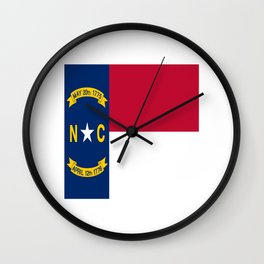 flag of north carolina-south,america,usa,Old North State,Tar Heel,North Carolinian,Charlotte,Raleigh Wall Clock