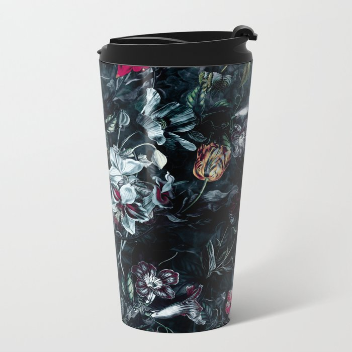 NIGHT GARDEN II Metal Travel Mug