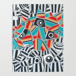 One, Two, Many Stripes Poster