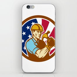 American Handyman USA Flag Icon iPhone Skin