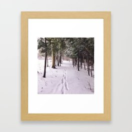 Snow Prints Framed Art Print