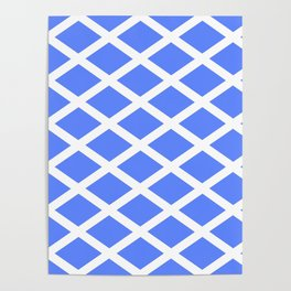 abstraction from the flag of scotland. Poster
