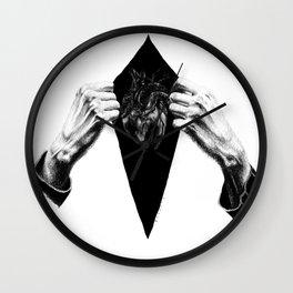 Open heart (B&W) Wall Clock
