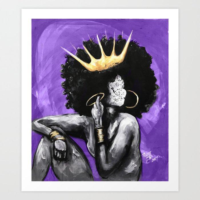 Naturally Queen VI PURPLE Kunstdrucke