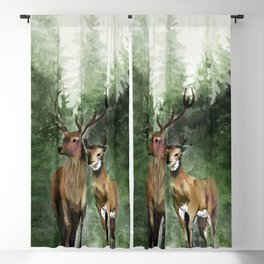 Deers in the Forest Blackout Curtain