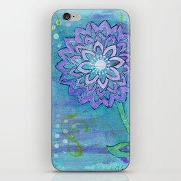 Purple Flower by Deborah Halcomb iPhone Skin