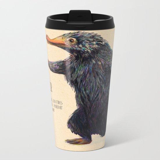 Niffler art Fantastic Beasts Metal Travel Mug