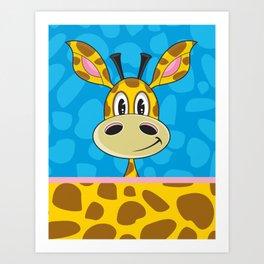 Cute Cartoon Giraffe Art Print