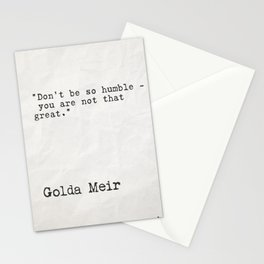 Goda Meir quote 2 Stationery Cards