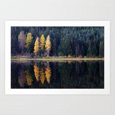 Trillium Lake. Art Print