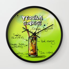 TequilaSunrise_002_by_JAMFoto Wall Clock