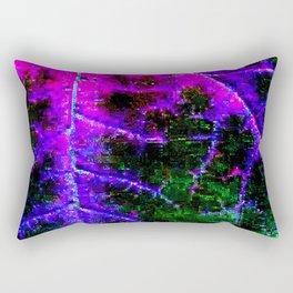 encroaching glitch Rectangular Pillow