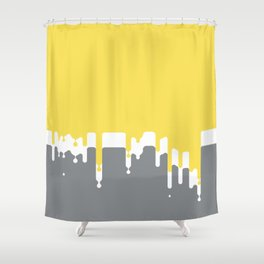 Dropping Yellow Shower Curtain
