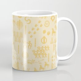 Peoples Story - Gold on Beige Coffee Mug