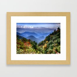 The Himalayas of Bhutan Framed Art Print