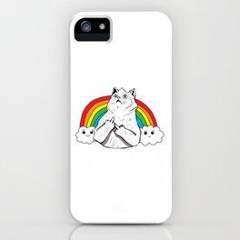 Fluff Off Rainbow Cat iPhone Case