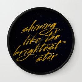 Shining Like The Brightest Star Wall Clock