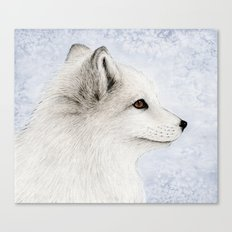 Polar Fox Profile Canvas Print