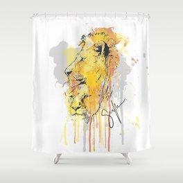 Lion pair Shower Curtain
