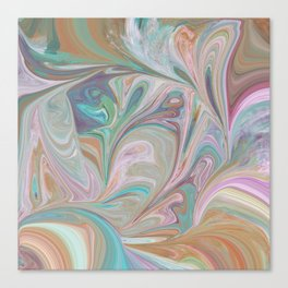 Swirling Pastels Canvas Print