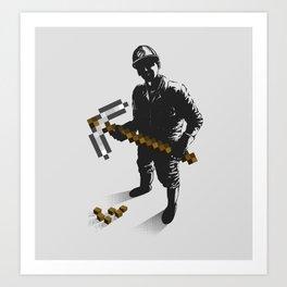 Miner Art Print