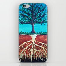A tree only stands tall because of it's roots. iPhone & iPod Skin