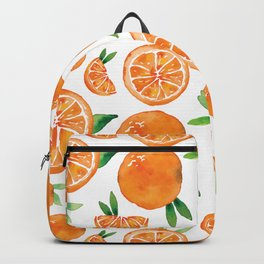 Zesty Orange Pattern Backpack