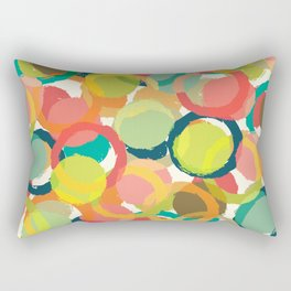 COLORFUL CIRCLES PATTERN  Rectangular Pillow