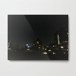 NYC Rooftop: Late Night Metal Print