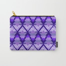 Geometric Forest on Purple Carry-All Pouch