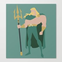 aquaman Canvas Prints featuring Aquaman by karla estrada