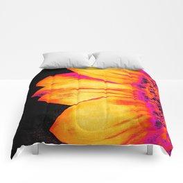 Sunflower Hot Pink Yellow Comforters