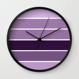Lavender Purple Stripes Wall Clock