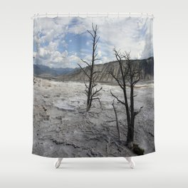 Mammoth Hot Spring  Terrace Shower Curtain