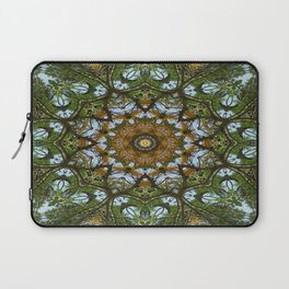 Yellow Tree Flower Kaleidoscope Art 5 Laptop Sleeve