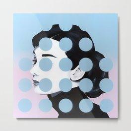 Audrey (Dots) by Famous When Dead Metal Print