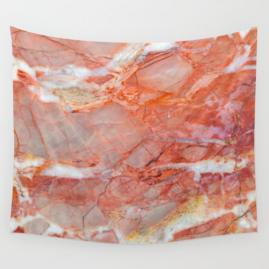 Pink Wall Tapestry pink marble wall tapestrysanto sagese | society6