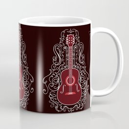 Acoustic Guitar With A Scroll Design Coffee Mug