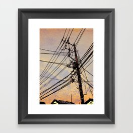 wires up Framed Art Print