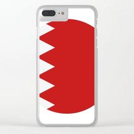 bahrain flag Clear iPhone Case