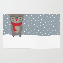 Merry Christmas Deer Rug