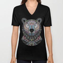 Neon Tribal Bear Unisex V-Neck