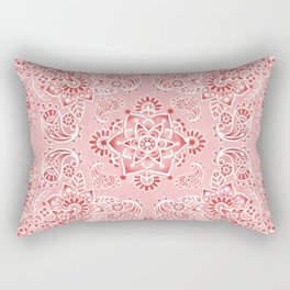 Pink Paisley Bandana Rectangular Pillow