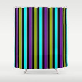 VERTICAL Retro Candy Stripe Shower Curtain