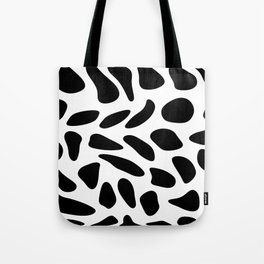 Black Pebbles Motif Tote Bag