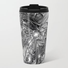 Black And White Abstract Art Travel Mug