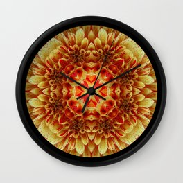 Yellow-With a Touch of Red Wall Clock