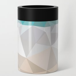 Low poly beach Can Cooler